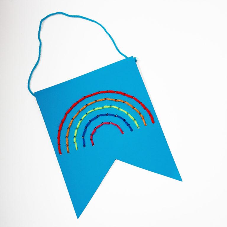 Rainbow Banner Children's Craft Kit