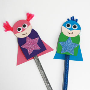 Superhero Pencil Topper