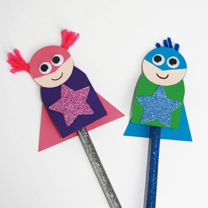 Superhero Pencil Topper